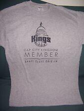 NBA Sacramento Kings Cap City Kingdom Member 2013-2014 Gray Med. T-shirt
