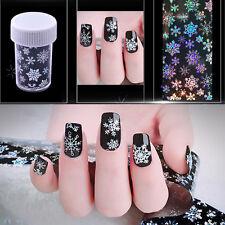 Snowflake Nail Art Transfer Wrap Foil Sticker Glitter Tip Decal Decoration DIY