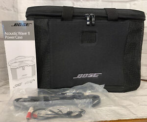 NIB Bose Acoustic Wave Portable Power Case w/ 12V Car Lighter Power Adapter, Aux