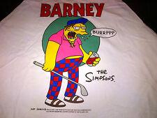 The SIMPSONS Barney Gumble SHIRT Baseball Style Size XL NEW 1997/98 Homer Bart