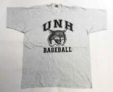 Vintage Fruit of the Loom UNH Baseball New Haven University T-Shirt Gray XXL USA