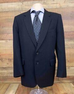 Woodward & Lothrop Young Professional Mens Jacket Coat Blue Pinstripe Wool 41R