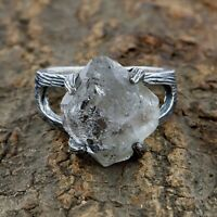 Natural Herkimer diamond Ring - 925 Sterling Silver Handmade Ring Size 9