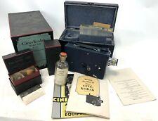 Vintage WORKING Cine Kodak Model B-B f-1.9 Film Camera Kit w/ Case & Filters