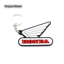 For Honda Wing Keyring Motor Bike Rubber Keychain Key Chain Key Ring Gift White