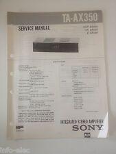 Schema SONY - Service Manual Integrated Stereo Amplifier TA-AX350 TAAX350