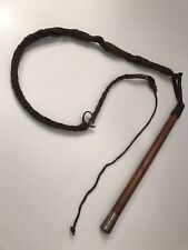 More details for antique colonial british 1.6m whip - late victorian / boer war period (named)