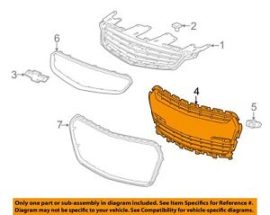 Chevrolet GM OEM 14-15 SS Front Bumper-Lower Bottom Grille Grill 92276168