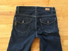 "Paige jeans sz 28 wide leg flare  Great condition flap pockets hemmed 29.5"" inse"