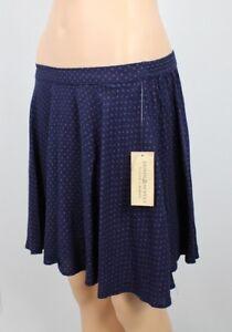 Denim Supply Ralph Lauren Star-Print A-Line Mini Skirt Navy Blue Red