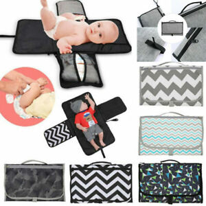 Changing Mat Home Away Storage Folding Waterproof Travel Baby Diaper kan UK