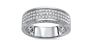 Round 1.50 Ct Diamond Men's Engagement Wedding Band Pinky Ring Christmas Special