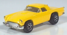 "Hot Wheels 1957 57 Ford T Bird Thunderbird 2.75"" Scale Model Yellow 7 Spoke"