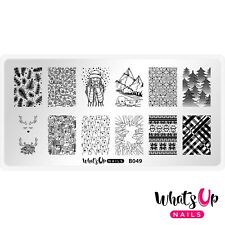 B049 Hot Chocolate Season Stamping Plate For Christmas Stamped Nail Art Design
