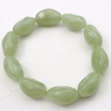 Vendimia verde Jade Diseño Plástico Señoras Brazalete Con