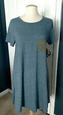 LulaRoe Carly Dress, Blue, Medium NWT