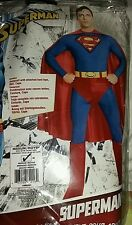 RUBIES SUPERMAN FANCY DRESS ADULT COSTUME MEDIUM 38-40 NEW