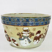"""St. Nicholas Square FOREST FRIENDS 4Qt Large 9.5"""" Mixing Serving Bowl(s) Snowman"""