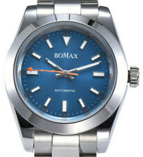 BOMAX by PARNIS 9100 Milgaus Stahl-Automatikuhr 40mm Armbanduhr Saphirglas 5BAR