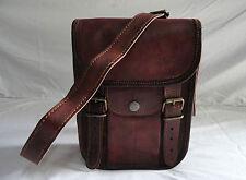 Vintage Leather Messenger Bag Passport Camera Travel Handbag Mobile/iPad Satchel