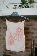 Perfect For Summer, String Shoulder Tie, Peach & Taupe Ladies Top. Size M.