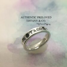 Mint Authentic Tiffany & Co. 1837 Montana Blue Sapphire Silver Ring RP$400 #4