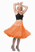 Orange 50's Rockabilly Super Soft 26 inches Petticoat Skirt By Banned Apparel