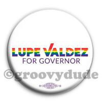 LGBTQ Official Lupe Valdez Texas Governor Gay Pride Campaign Pin Pinback Button