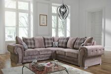 new verona fabric corner, 3 & 2 seater sofa & armchair, grey silver,  beige mink