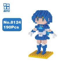 BOYU Sailor Moon Mercury Mizuno Ami Amy Diamond Mini Building Nano Blocks Toy