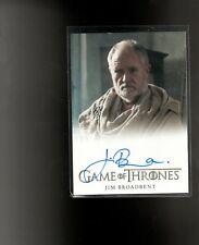 Game of Thrones  season 7 Jim  Broadbent autographed card
