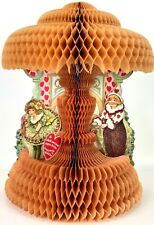 Valentines Day Antique 20s Honeycomb Decoration Beistle Pop Up Fold Out Clown 3D