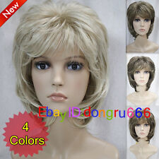 Short Curly Women Female Lady Hair Wig Perruque Good quality!+Free Wig Cap