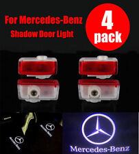2/4 Mercedes Benz Proyector puerta de automóvil LED Luz De Cortesía Logo Láser Fantasma Charco
