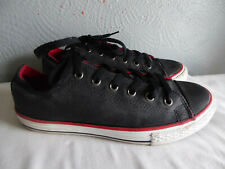 Converse All Star dark grey lace up low top trainers size 4 EU 37 worn once