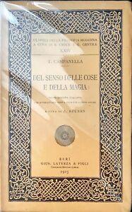 DEL SENSO DELLE COSE E DELA MAGIA - T. CAMPANELLA - LATERZA 1925