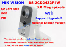 Hikvision DS-2CD2432F-IW 3MP POE day/night Network IP PIR human detection Camera