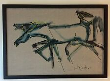 Neith Nevelson Acrylic on Canvas Painting - Horses