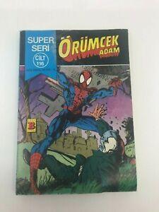 SPIDERMAN #175 #176 Turkish Comic Book 80s MARVEL COMICS Ultra Rare PETER PARKER