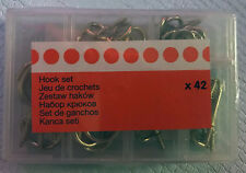 B&Q Assorted Brass Effect Plated Metal Hook & Eye Set pack of 42