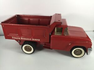 VTG 1960s Made in USA Structo Hydraulic Dumper Dump Truck Die Cast Toy 60s Used