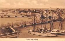 RECIFE, PERNAMBUCO, BRAZIL ~ TOWN, RIVER, BRIDGES & SHIPS OVERVIEW ~ used 1909