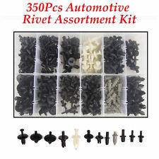 350Pc Auto Body Plastic Push Pin Rivet Fasteners Trim Moulding Clip Assortments