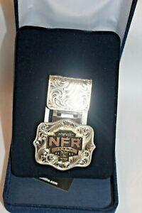 NIB Montana Silversmiths Money Clip Wrangler Nat'l Finals Rodeo 2020 Texas