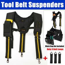 Adjustable Heavy Duty Work Tool Belt Suspenders w/ Mobile Phone Pouch 3