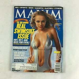 February 2002 Maxim Magazine The 3rd Annual Real Swimsuit Issue Endless Sex!