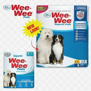 """Four Paws Wee-Wee Puppy Training Gigantic Size 27.5"""" x 44"""" Pee Pads for Dogs"""