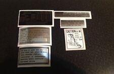 SUZUKI GT750 1972 -WARNING KIT DECALS-