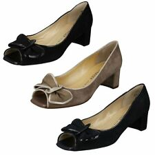 Ladies Pater Kaiser PEEP Toe Court Shoes The Style - Nexe UK 6 Black Suede Standard