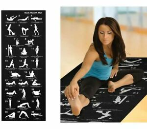 28 POSITION DISPLAY NON SLIP EXERCISE BACK HEALTH FITNESS YOGA FOAM MAT WORKOUT